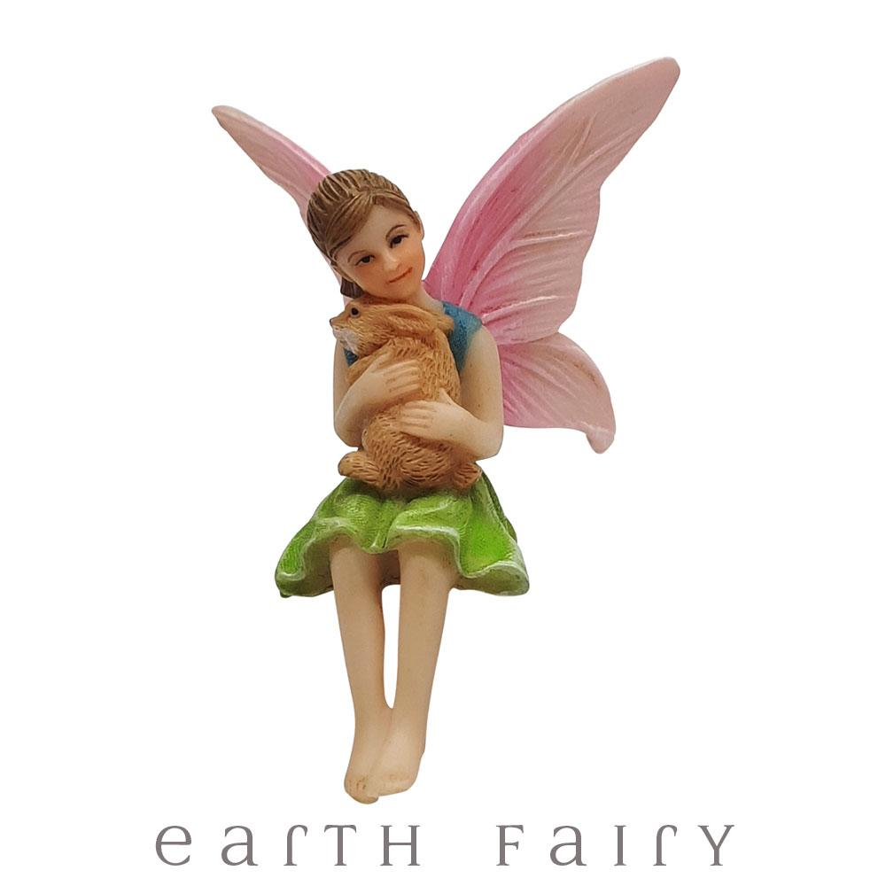 Fairy Ava with Bunny Rabbit | Fairy Gardens - Australia | Earth Fairy