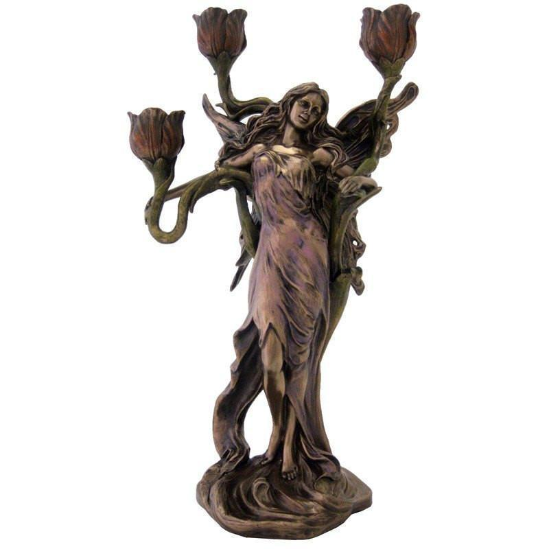 Room Accents Fairy Candelabra - Melianthe Earth Fairy