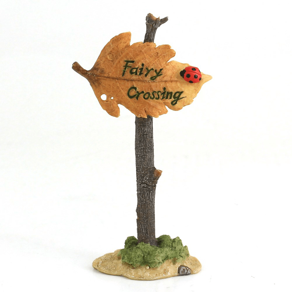 'Fairy Crossing' Sign  - Fairy Gardens - Earth Fairy