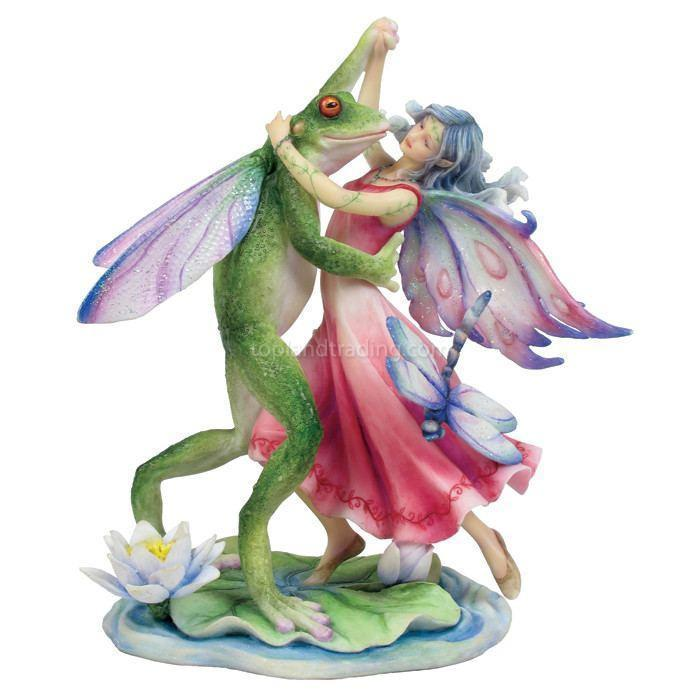 Fairies & Friends Fairy Dancing with the Frog Prince Earth Fairy