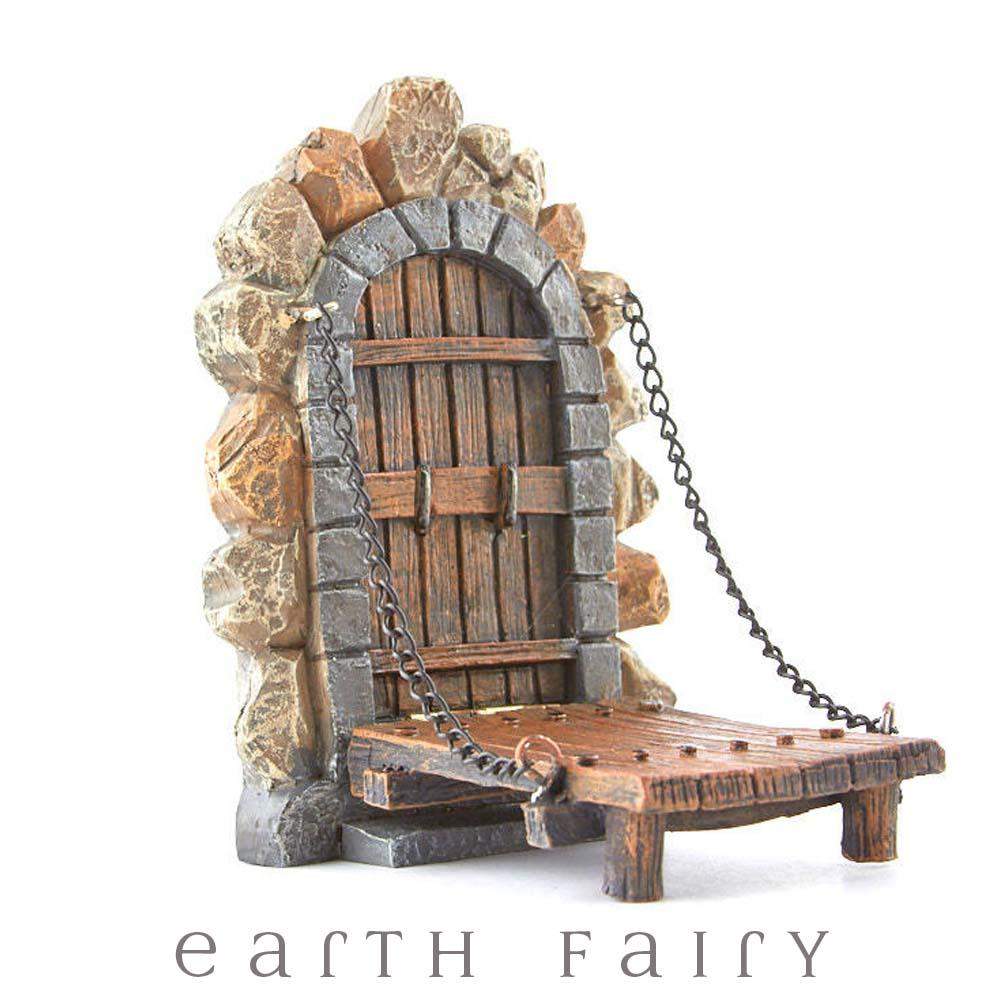 Fairy Door with Draw Bridge