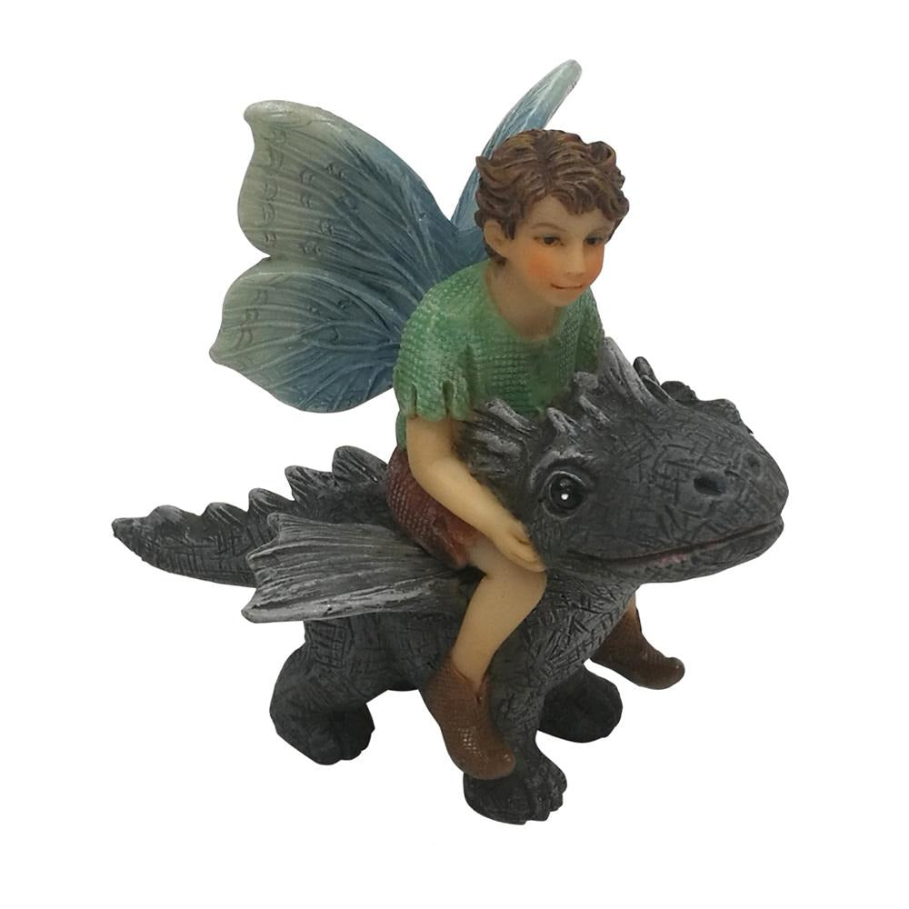 Fairy Draco with Dragon from The Willow Fairy Garden Collection by Earth Fairy