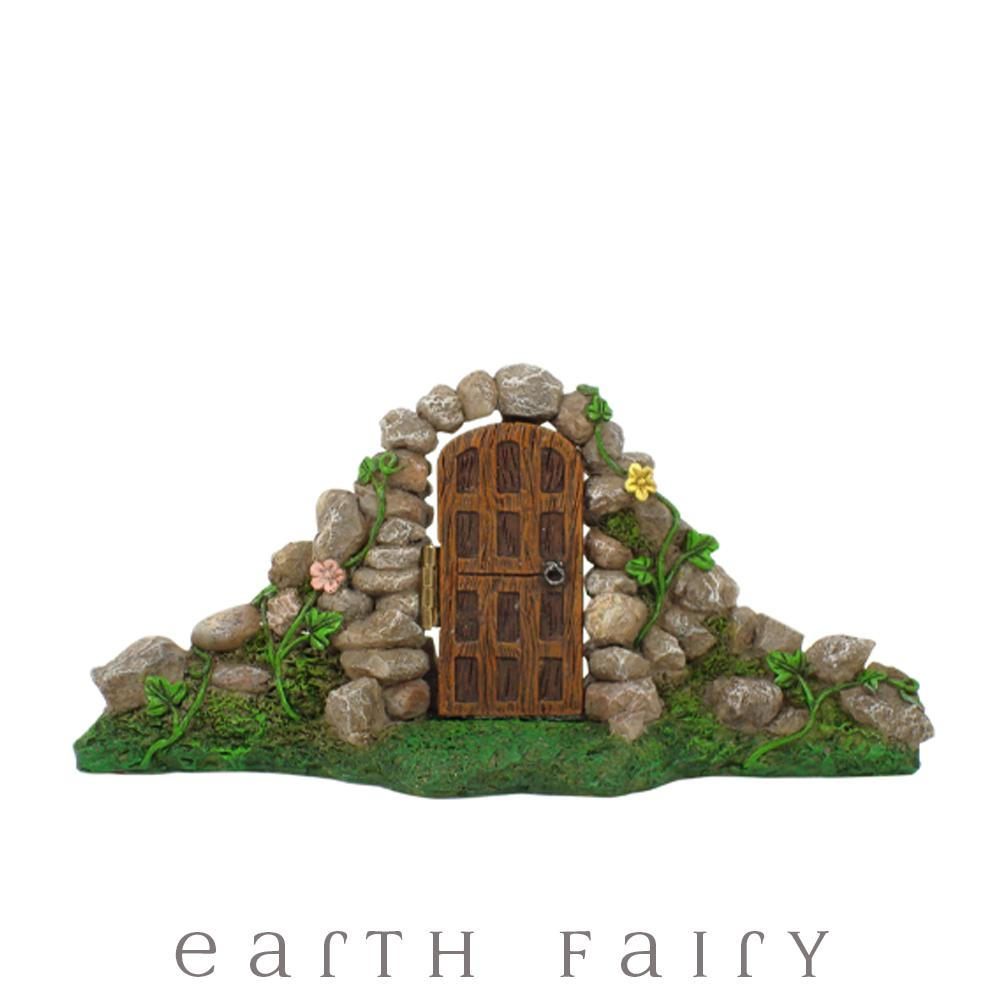 Fairy Garden Door with Stone Arch - Mini