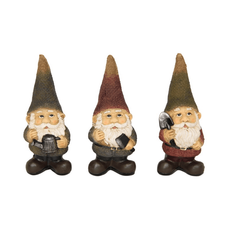 Fairy Garden Gnomes - Set of Three
