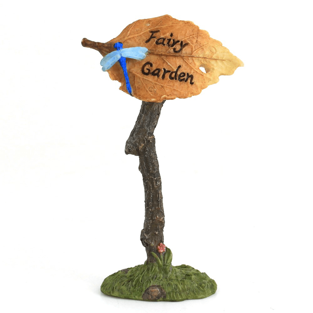 'Fairy Garden' Sign with Dragonfly  - Fairy Gardens - Earth Fairy