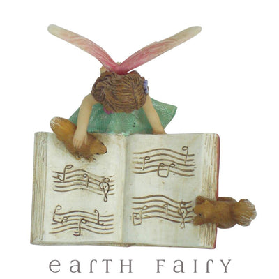 Fairy Harmony with Music Book from The Willow Fairy Garden Collection by Earth Fairy