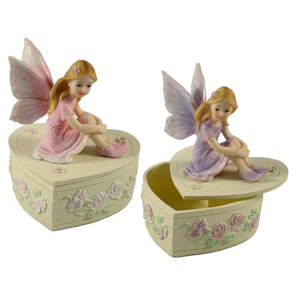 Room Accents Fairy Heart Trinket Box Earth Fairy
