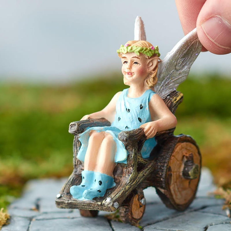 Fairy Klara with Wheelchair | Fairy Garden Figurines - Australia | Earth Fairy