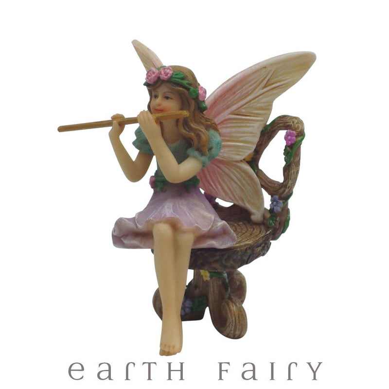 Fairy Melody with Flute from The Willow Fairy Garden Collection by Earth Fairy