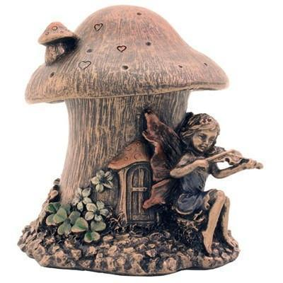 Room Accents Fairy Mushroom House - Trinket Box Earth Fairy