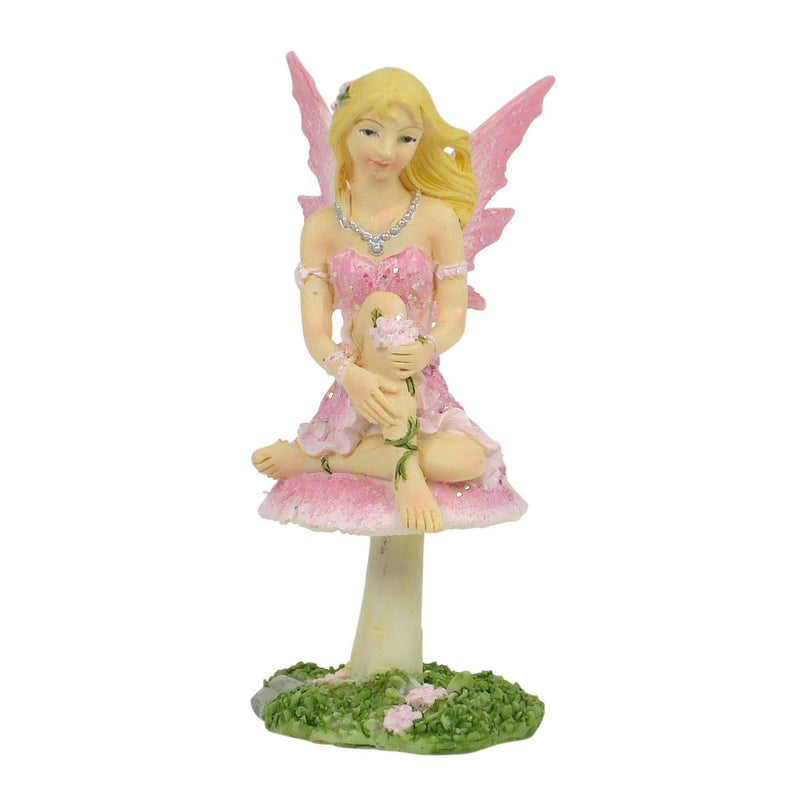 Fairy on Mushroom - 10cm | Fairy Garden Figurines - Australia | Earth Fairy
