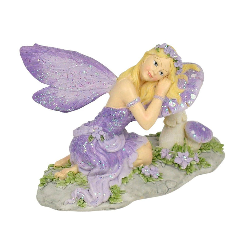 Fairy Resting on a Mushroom | Fairy Garden Figurines - Australia | Earth Fairy