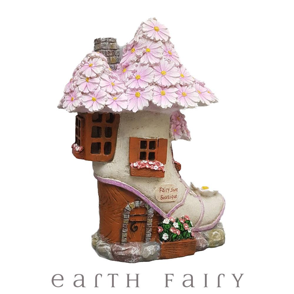 Fairy Shoe Boutique - Solar | Fairy Garden Houses - Australia | Earth Fairy