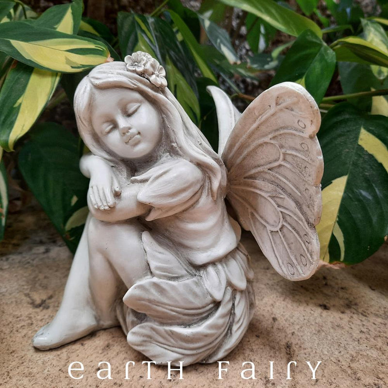 Fairy Sleeping Garden Sculpture, from The Fairy Garden Sculpture Collection by Earth Fairy