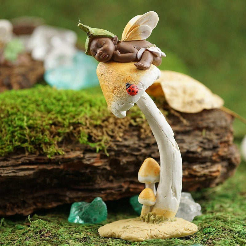 Fairy Sleeping on a Mushroom | Fairy Garden Figurines - Australia | Earth Fairy