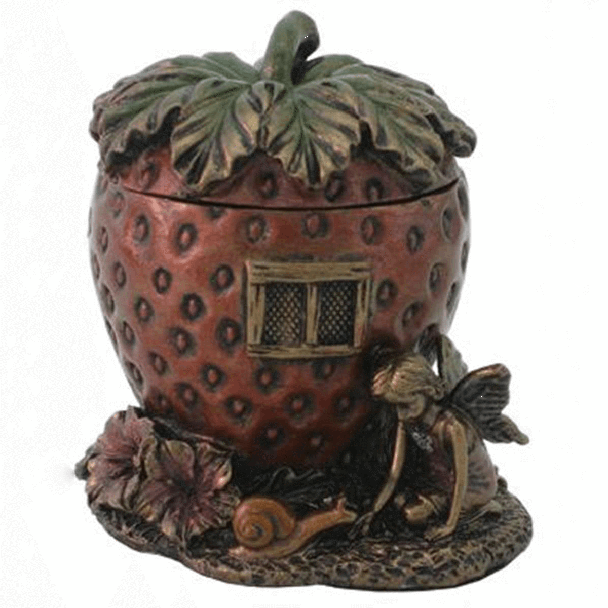 Room Accents Fairy Strawberry House - Trinket Box Earth Fairy