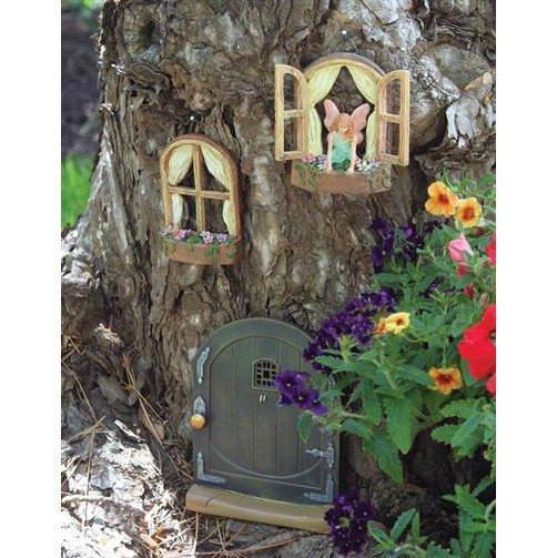 Fairy Doors Fairy Windows - Set of 2 Earth Fairy