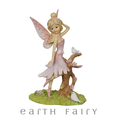 Fairy with Bird - Pink, from Fairy Figurine Collection by Earth Fairy