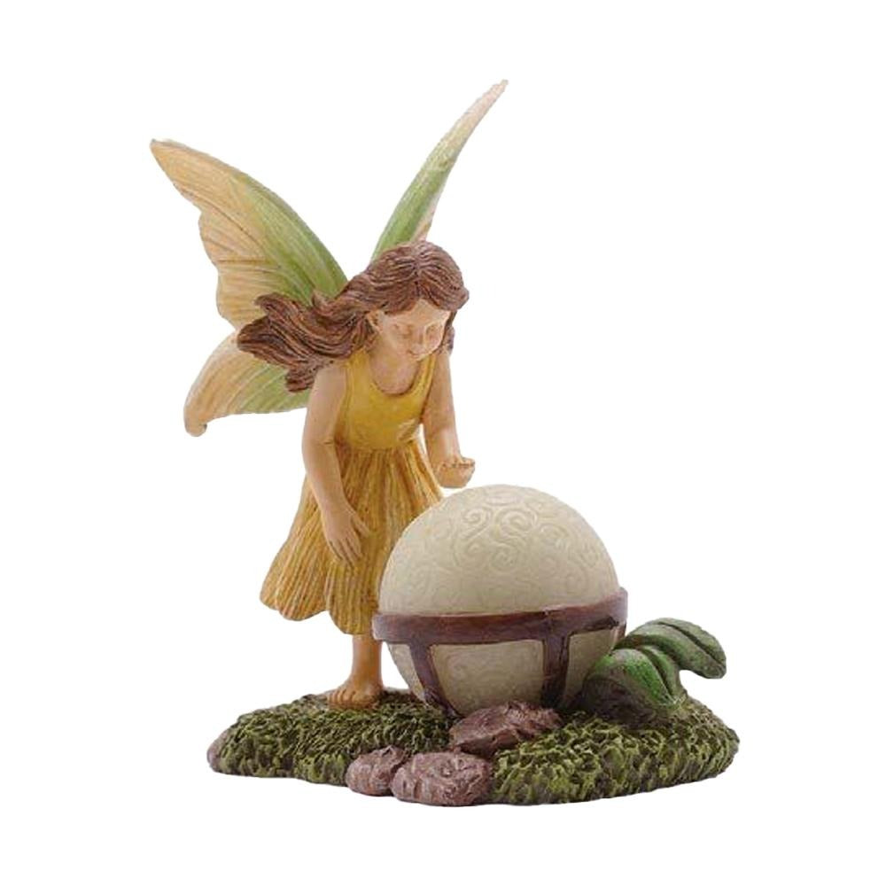 "Fairy with Glowing Orb from The Woodland Knoll ""Glow in the Dark"" Fairy Garden Collection by Earth Fairy"