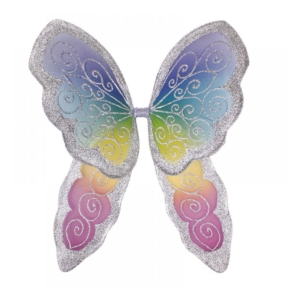 Fairy Finery Fantasy Wings - Large Rainbow / Silver Earth Fairy