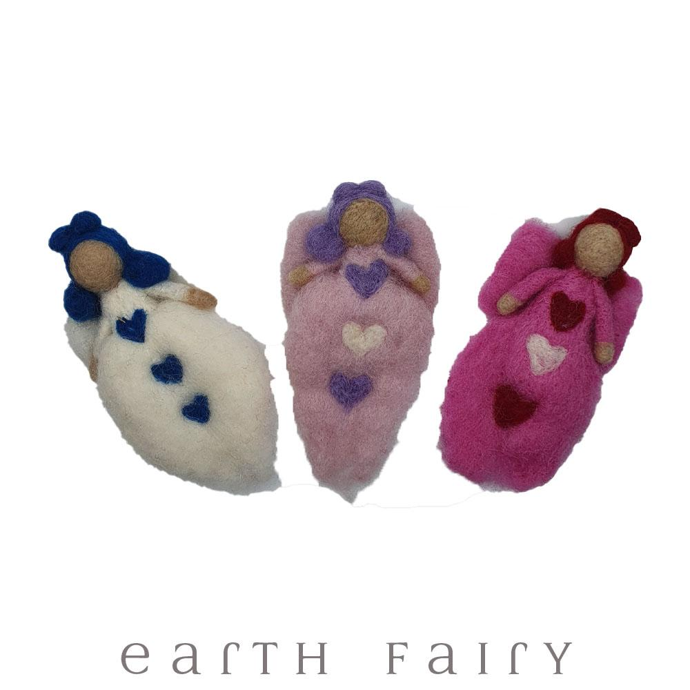 Felt Angels, from The Hand Felted Wool Toy Collection by Earth Fairy