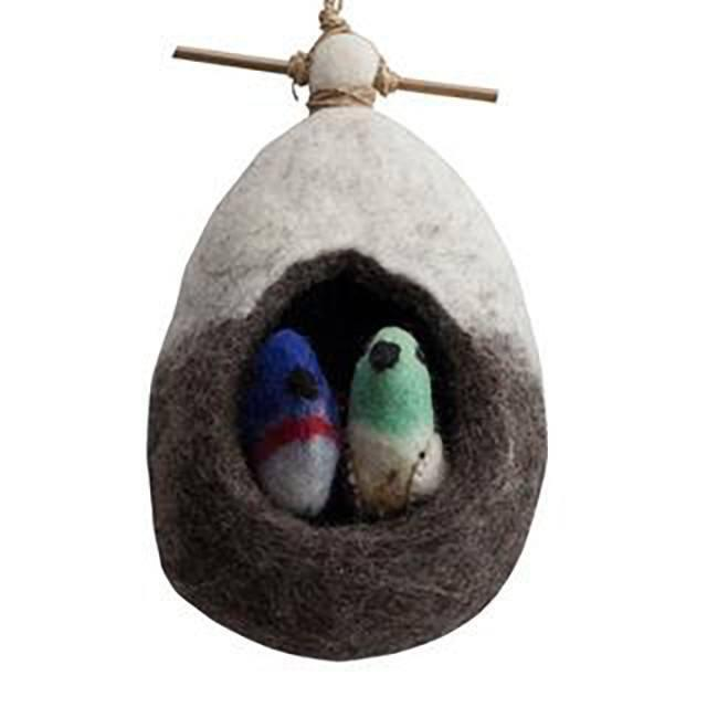 Fairy Play Felt Hanging Home Nests Love Birds Earth Fairy
