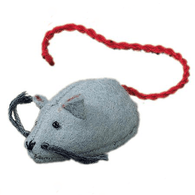 Fairy Play Felt Mouse Grey Earth Fairy