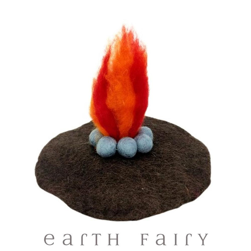 Fire Mat, from The Hand Felted Wool Collection by Earth Fairy