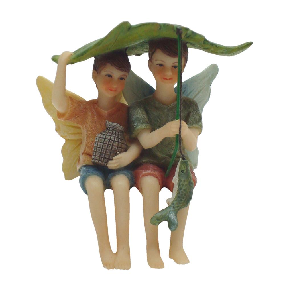 Fishing Fairy Friends| Fairy Garden Figurines - Australia | Earth Fairy