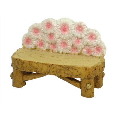 Fairy Gardens Flower Bench Pink Earth Fairy