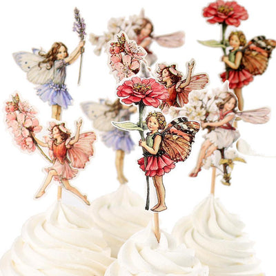Fairy Party Flower Fairy Cupcake Toppers Earth Fairy