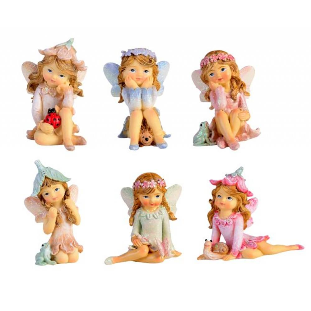 Flower Garden Fairies - The Rainbow Collection | Fairy Figurines | Earth Fairy
