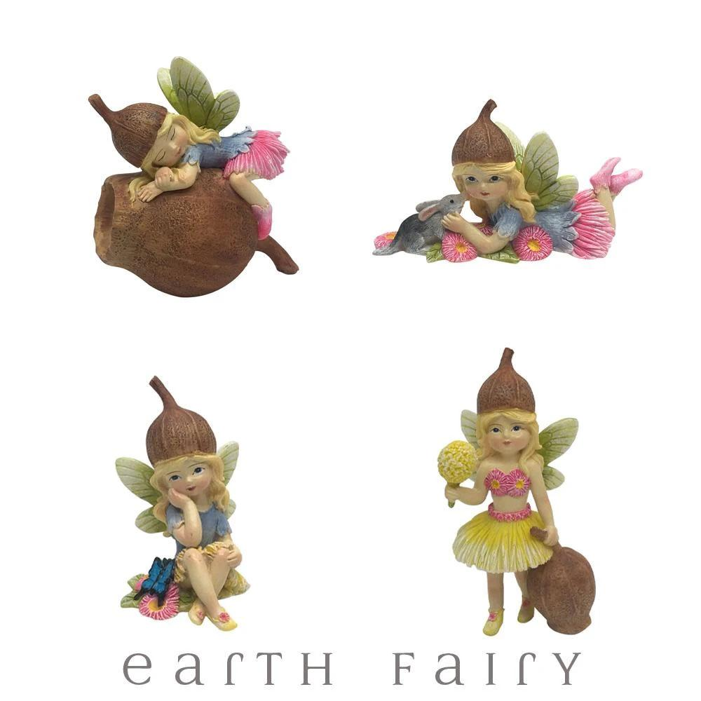Flower Garden Gumnut Fairies - Set of 4