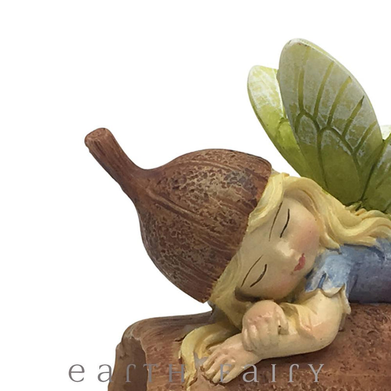 Flower Garden Gumnut Fairy Sleeping on a Gumnut| Fairy Figurines - Australia | Earth Fairy