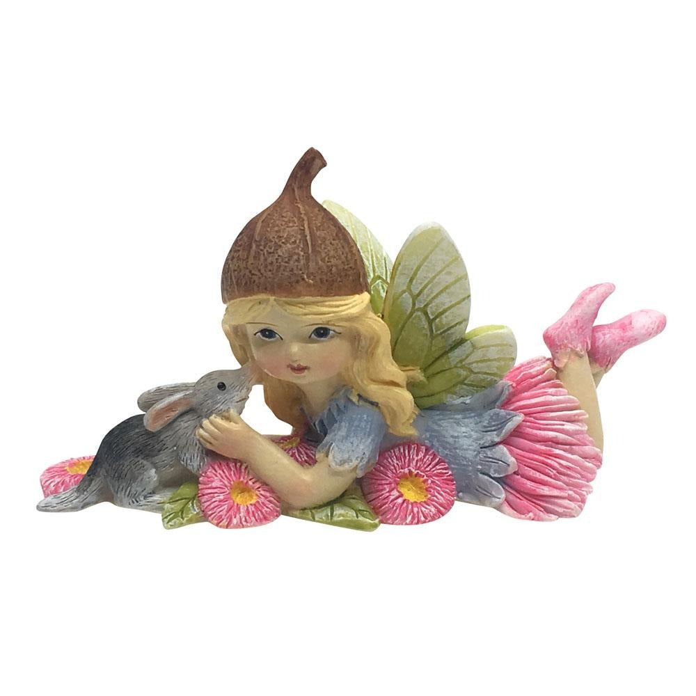Flower Garden Gumnut Fairy With Bilby | Fairy Figurines - Australia | Earth Fairy