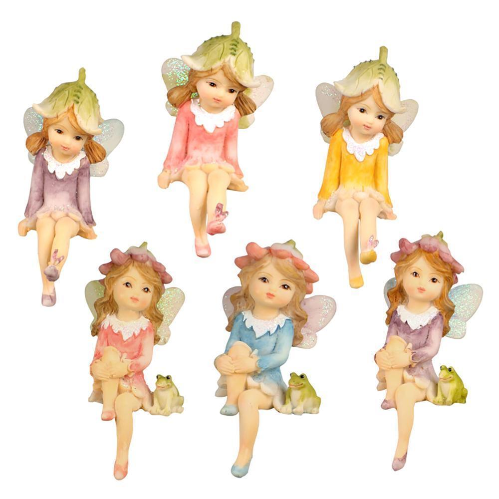 Fairies & Friends Flower Garden Shelf Sitting Fairy Earth Fairy