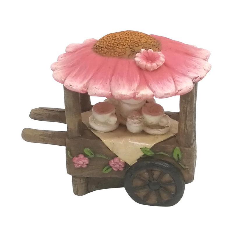 Flower Tea Cart | Fairy Garden Accessories - Australia | Earth Fairy