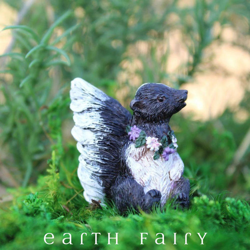 Flower the Skunk | Fairy Garden Animals & Miniatures | Earth Fairy