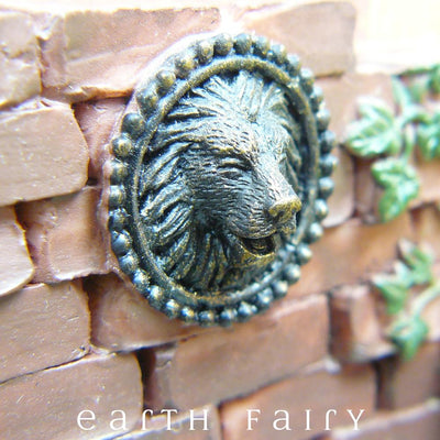 Fountain Pond - Lion Close Up | Fairy Garden Ponds - Australia | Earth Fairy