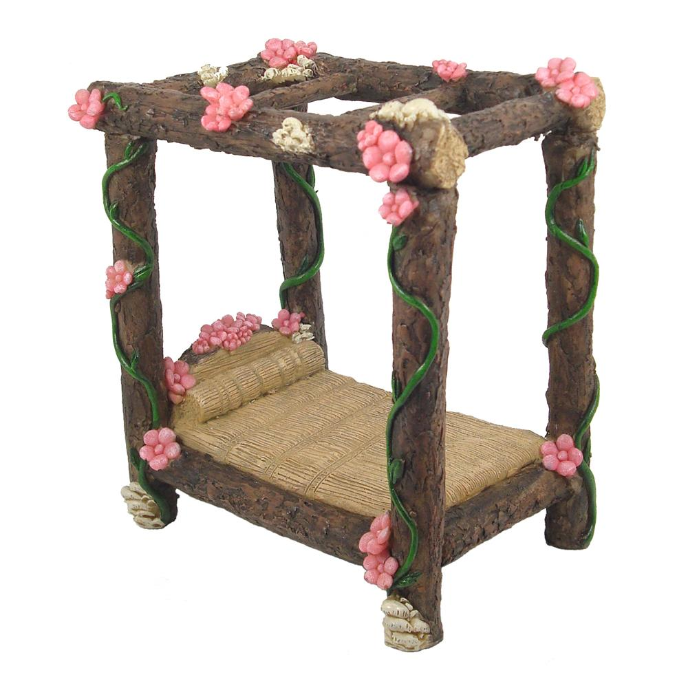 Four Poster Fairy Bed | Fairy Garden Furniture - Australia | Earth Fairy