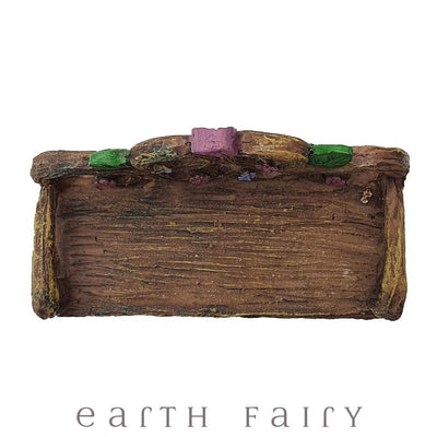 Garden Bench, Overhead View, from The Willow Fairy Garden Collection by Earth Fairy