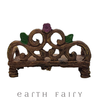 Garden Bench, Rear View, from The Willow Fairy Garden Collection by Earth Fairy