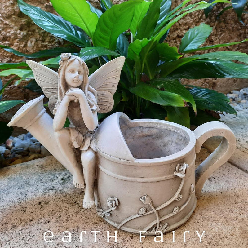 Garden Fairy Plant Pot – Watering Can, from The Fairy Garden Planter Collection by Earth Fairy