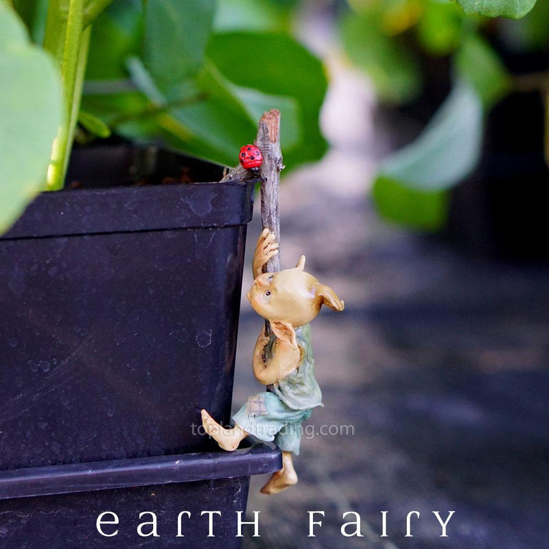 Garden Pixie Flower Pot Hugger | Miniature Figurines - Australia | Earth Fairy