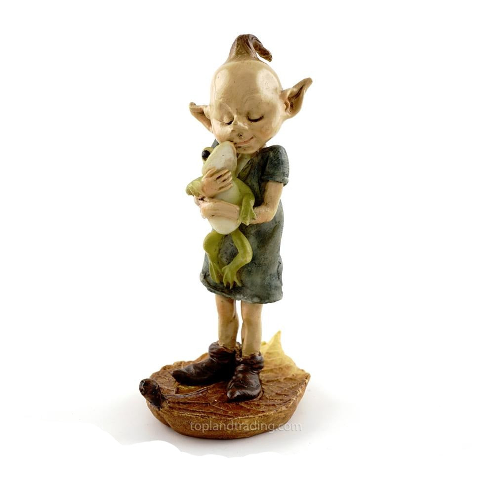 Garden Pixie Hugging a Frog | Garden Fairies - Australia | Earth Fairy