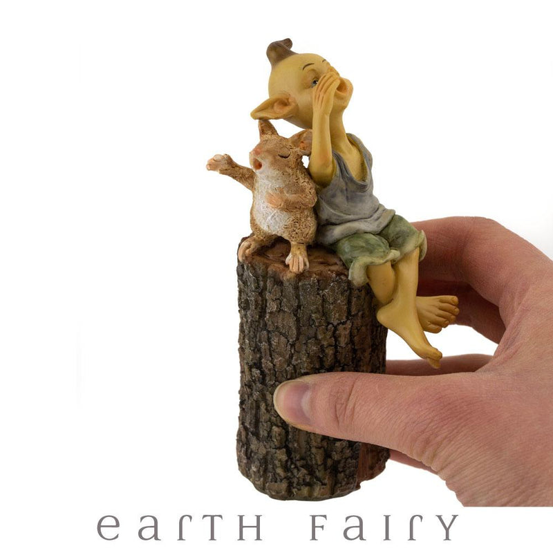 Garden Pixie Singing on Tree Stump | Pixies, Gnomes and Elves | Earth Fairy