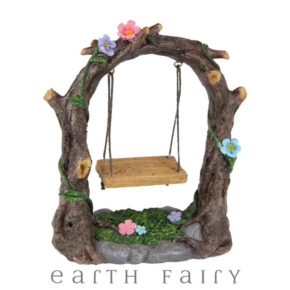 Garden Swing from The Willow Fairy Garden Collection by Earth Fairy