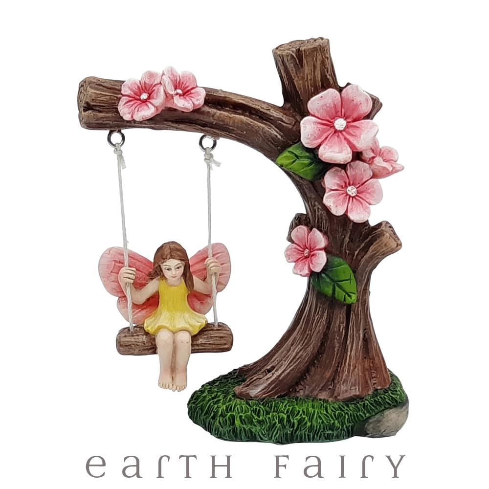 Graden Swing with Fairies, from The Fairy Garden Figurine Collection by Earth Fairy