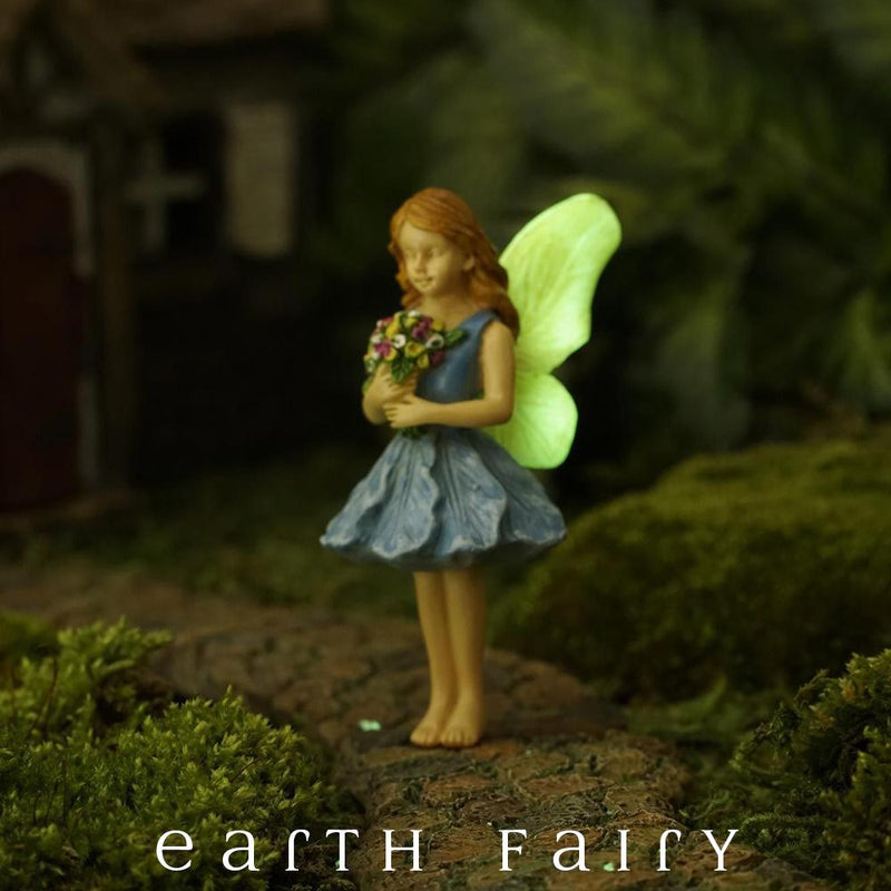 Gathering Blossoms Fairy - Glow Series | Fairy Garden Figurines - Australia | Earth Fairy