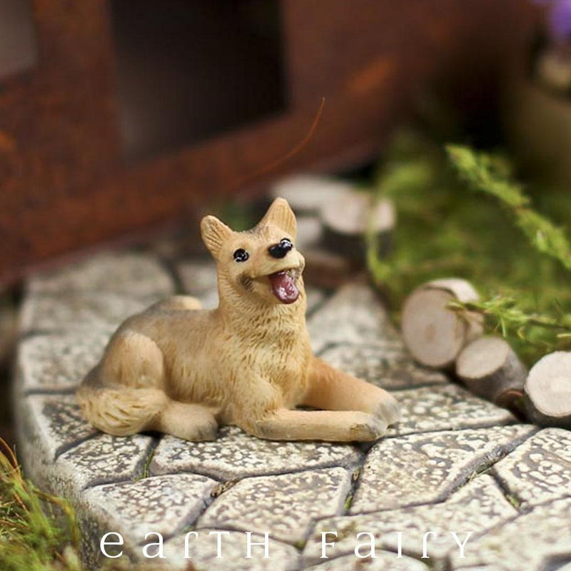 Miniature German Shepherd Dog from The Fairy Garden Miniature Animal Collection by Earth Fairy